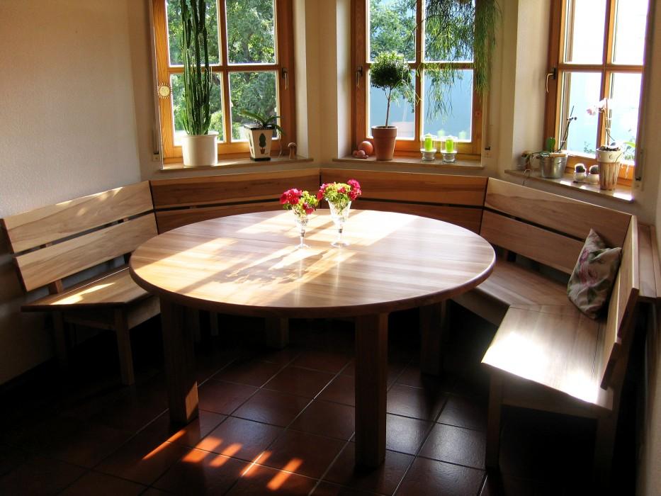 Sitzgruppe In Kernbuche Mit Erkerbank